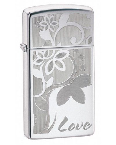 Zippo Slim Love High Polish Chrome Lighter Flint Windproof ** This is an Amazon Affiliate link. Continue to the product at the image link.
