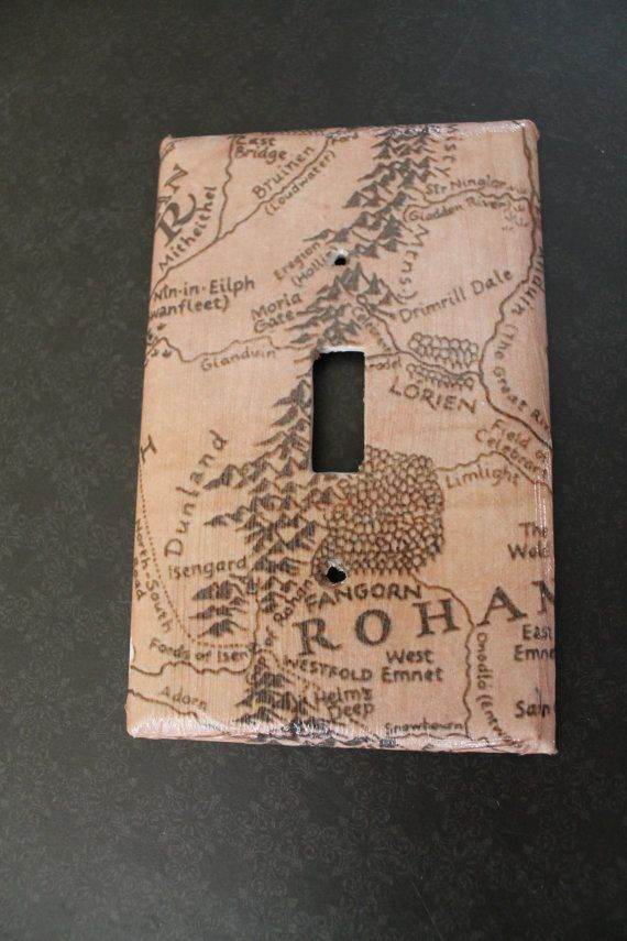 Lord of the Rings Middle Earth Light Switch by TheCraftyAdventurer, $10.00