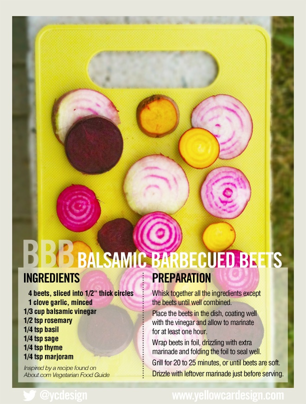 Colourful - & delicious - beets on the BBQ. #food #design