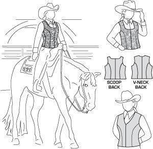 free western patterns   SEW YOUR OWN SHOW CLOTHES - Custom Show Clothes - Western Vest pattern ...