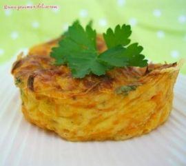Flan à la carotte et persil, Recette facile, préparation 6 minutes + four 20 minutes