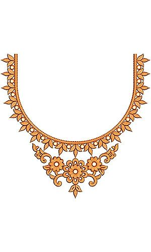 Cocos Clothing Embroidery Neck Design