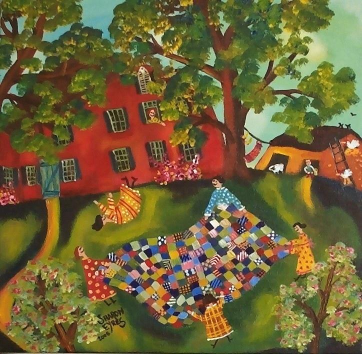 Folk Art Quilt Toss Color Pinterest Folk Art Folk