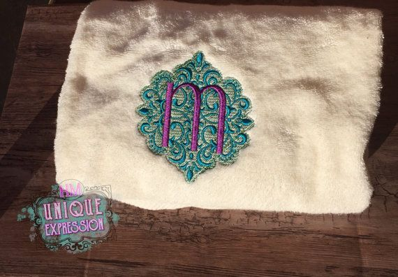 Embroidered Bathroom towel peacock theme  by HMUniqueExpression