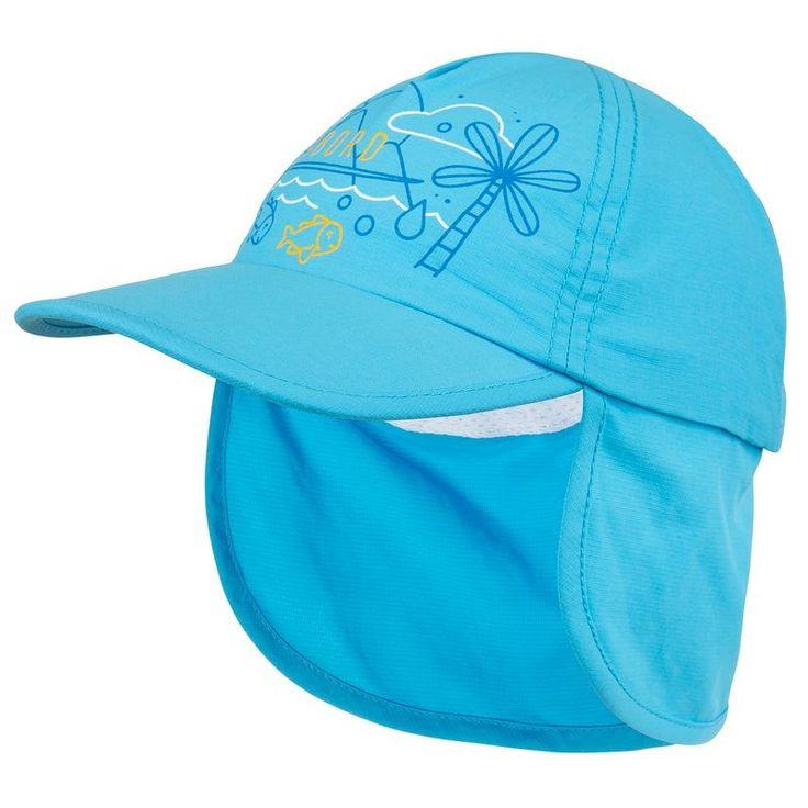 5,99€ - PRAIA - fatos banho_fatos_licras - BONÉ UV wave Bebé Azul - TRIBORD