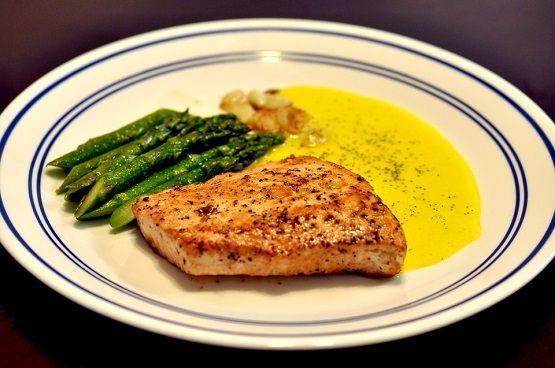 Resep Masakan Ikan Salmon Panggang Saus Lemon