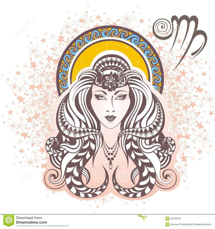 Photo about Vector illustration of a Zodiac sign - Virgo. Image of sign, horoscope, astrological - 60136761