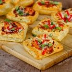 Pizza tart. Good idea for party food and leftover puff pastry.