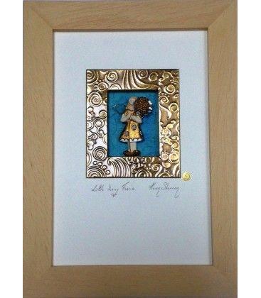 Daisy Fairy. Framed Artwork. Karen Shannon