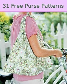31 Free Purse And Tote Bag Patterns So many cute ideas on here- next time I want to buy a new bag I will be on here!