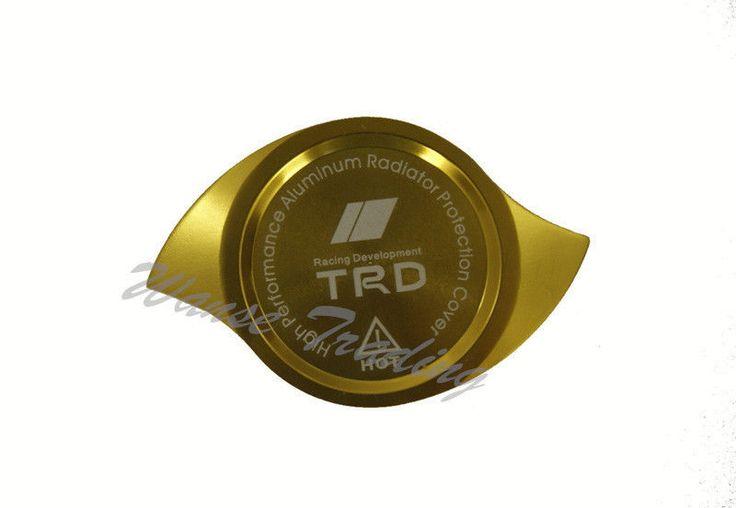 Universal TRD Alu CNC Machined Radiator Cap Cover Gold Fit TOYOTA LEXUS SCION in Radiators & Parts   eBay