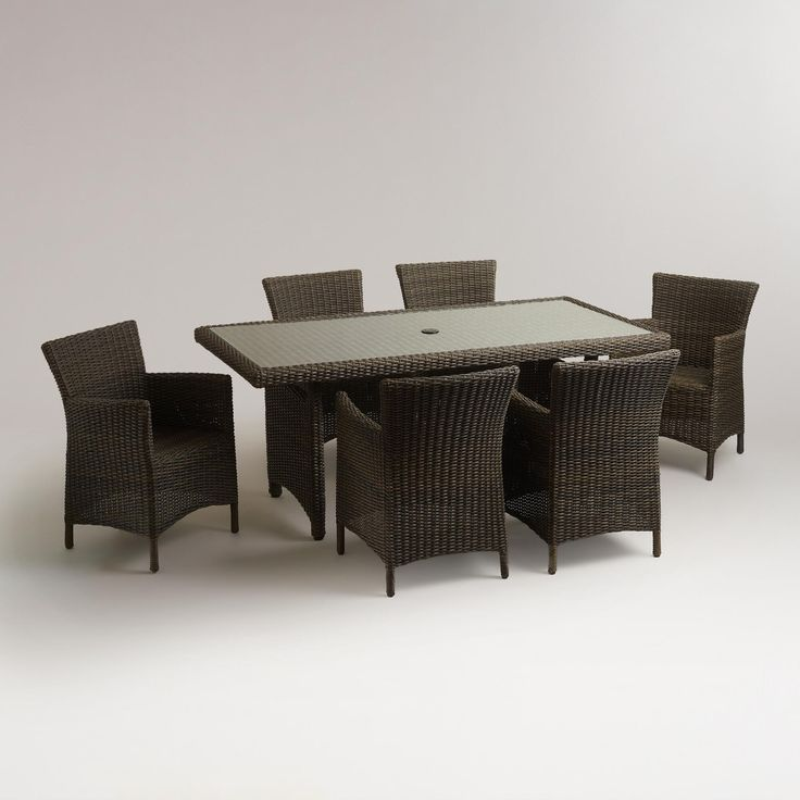 Solano All-Weather Wicker Dining Table   World Market table is $200