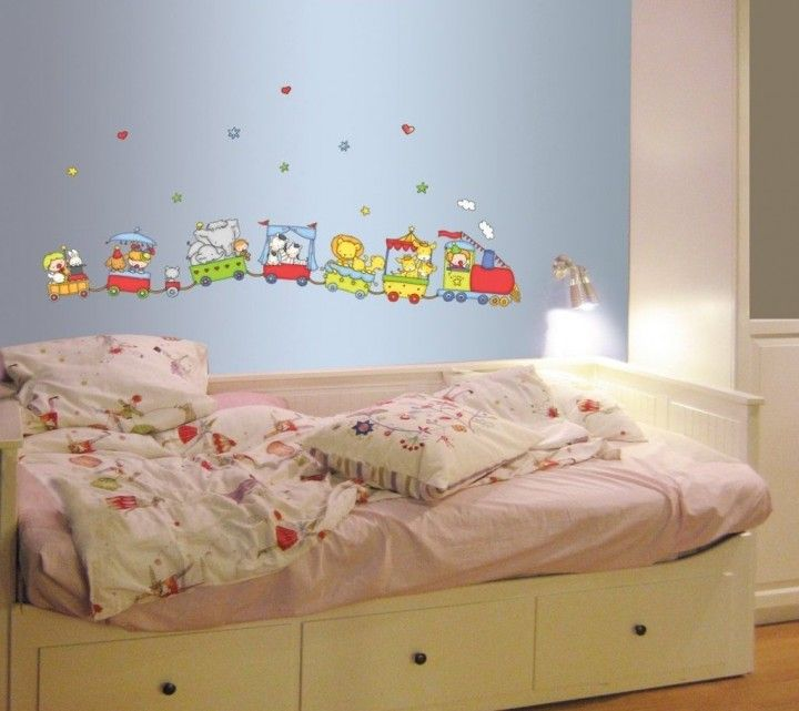 Bedroom Fun Train Animal Wall Full Size Bedroom Sets For Kids Decal With Wall Lamp For Kids Bedroom Decoration Ideas 720x641 Kinds Of Modern Wall Lamps For Bedroom Furniture Kids