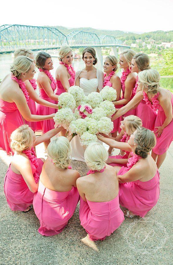 Bridesmaids in hot pink Liz Fields dresses  belfiorebridal149 best Bridesmaids  images on Pinterest   Bridesmaids  Bill o  . Liz Fields Wedding Dresses. Home Design Ideas