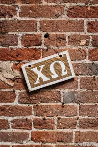 Chi Omega Letters Sign from The Social Life