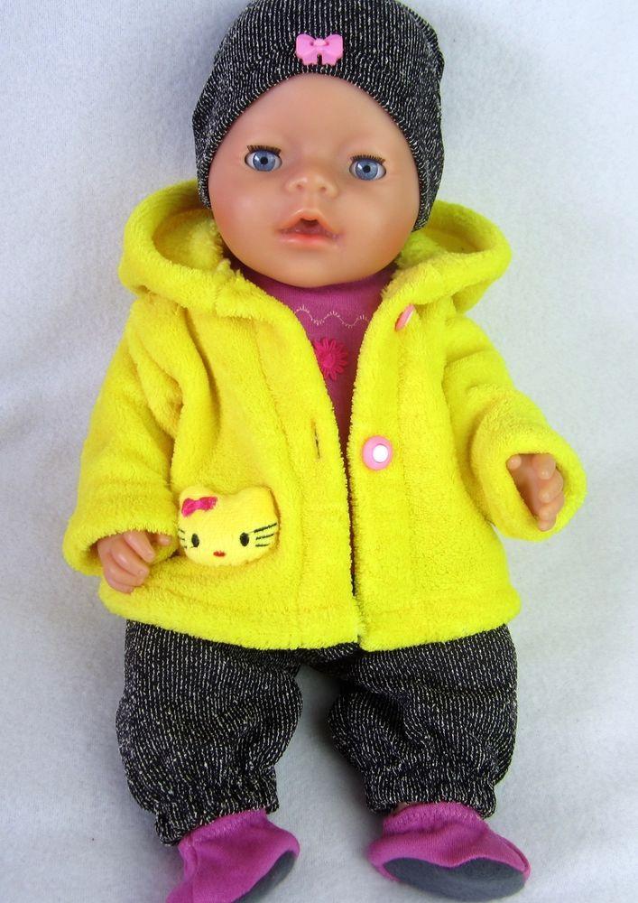 Puppenbekleidung für Baby Born 43/ Krümel, 5- Eilig -Katze-