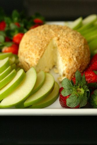 Lemon Cheesecake Cheese Ball. I just had this at a party and it was fantastic!