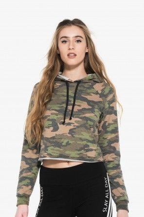 Crop camo hoodie