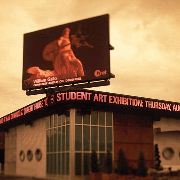 #fullsailuniversity students can have their creative work featured on the @Barco big screen on the backlot.