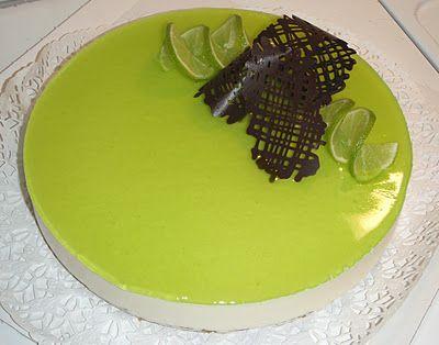 Lime - valkosuklaa juustokakku