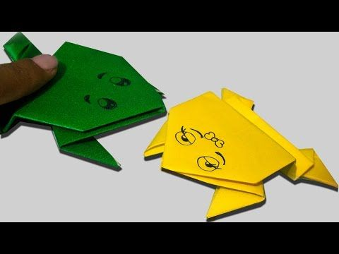 Como fazer um sapo de papel que pula (Origami passo a passo) - YouTube