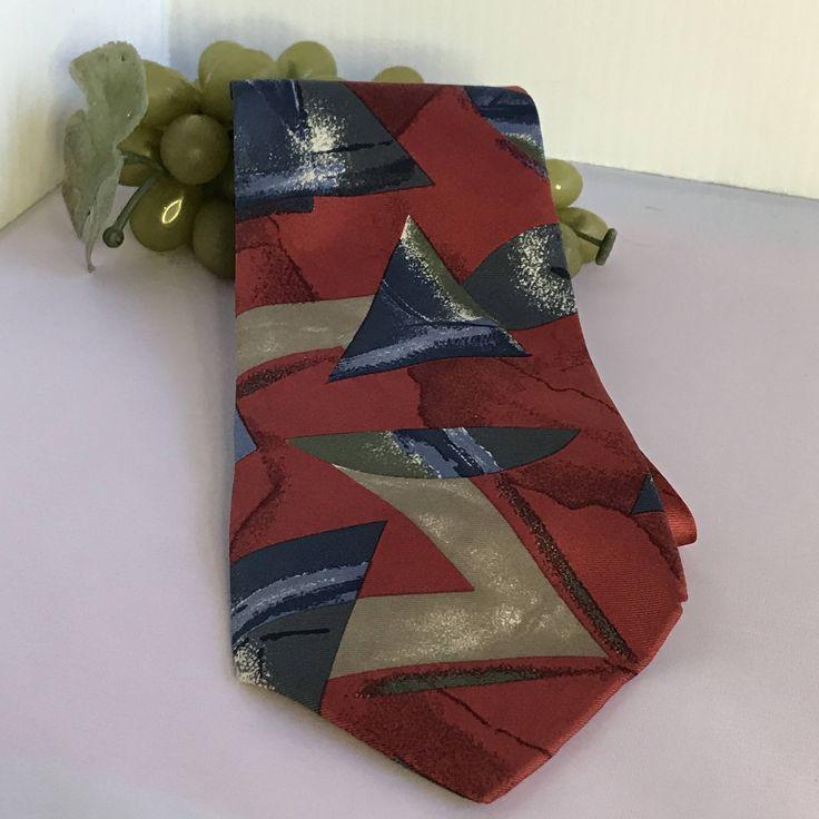 V293 Don Loper Beverly Hills Made in USA silk tie by TippysAttic on Etsy