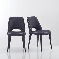 Chaise ergonomique en tissu (lot de 2), Joan