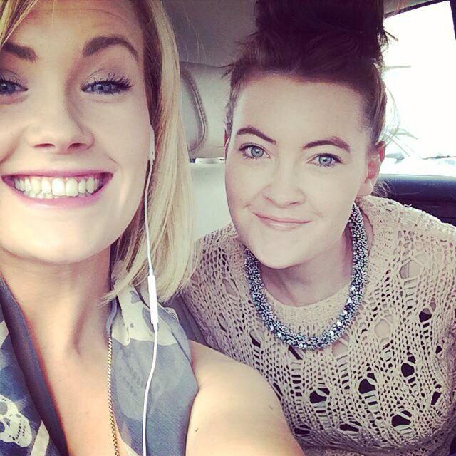 Sisterly love #blonde #brunette #greeneyes #blueeyes