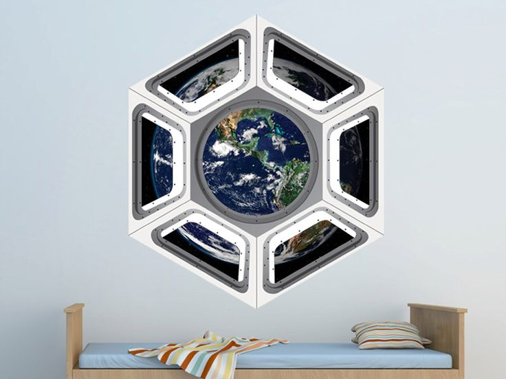 Space Shuttle Cupola Wall Decal - Viewing Earth from Space Wall Decal by WallJems - Space Wall Decals Boys Room Decoration by WallJems on Etsy https://www.etsy.com/listing/158172472/space-shuttle-cupola-wall-decal-viewing
