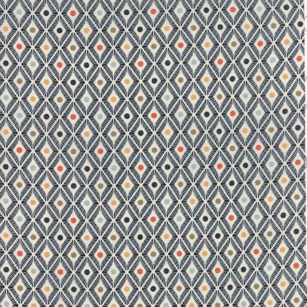 Tissu Persimmon Losange Marine x 10cm
