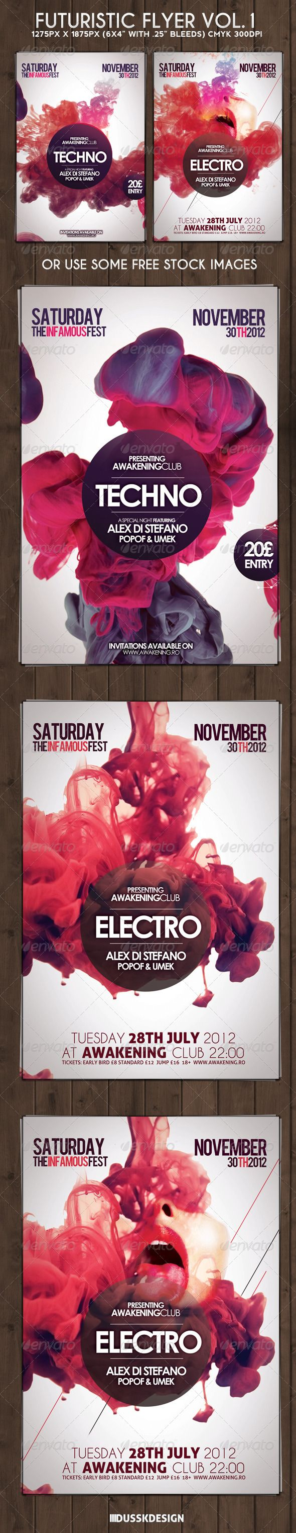 Futuristic Flyer Vol. 1 http://graphicriver.net/item/futuristic-flyer-vol-3/3848276?ref=DusskDesign