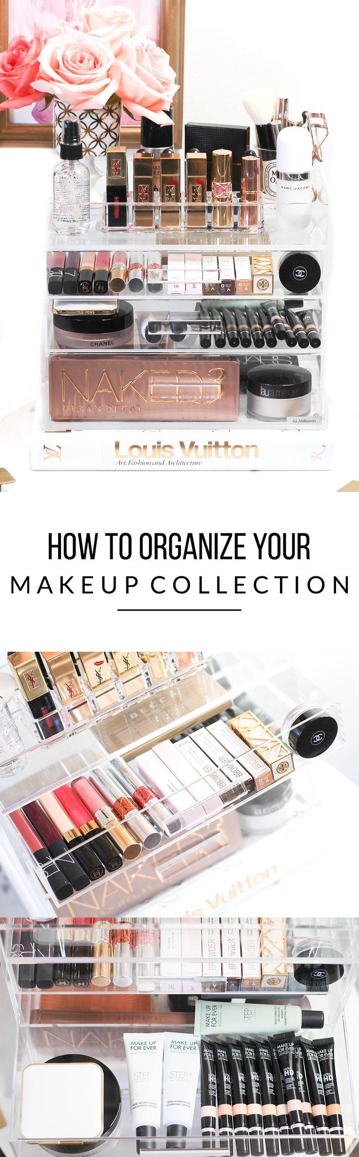 How To Organize Your Makeup Collection | Makeup Organization | Acrylic Makeup Organizers