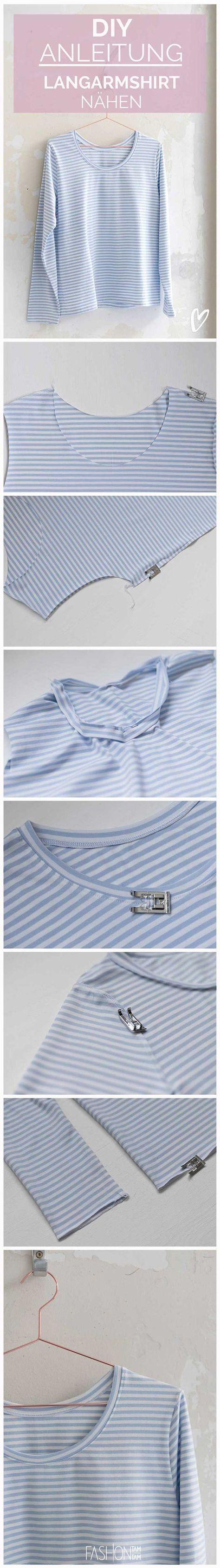 How to Shirt mit langen Ärmeln nähen, Anleitung T-Shirt nähen, Longsleeve nähen, Shirt nähen, Ärmel verarbeiten, Ärmel nähen, T-Shirt mit Streifen nähen, T-Shirt Selbermachen, Streifenhirt annähen, Anleitung Ärmel nähen, T-Shirt mit langen Ärmel nähen, T-Shirt Selbermachen, Ärmel mit nähen, Nähen für Anfänger, Nähen leicht, leicht Nähen, DIY Shirt, Streifenshirt, Streifenhirt nähen, T-Shirt nähen Overlock, DIY Longsleeve #diyshirts