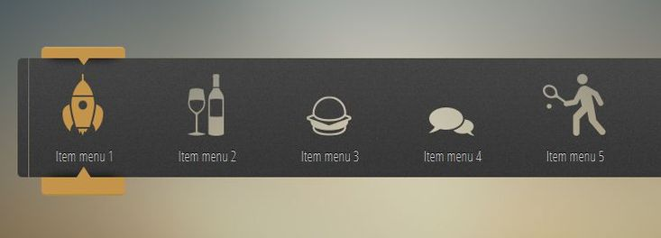 beatifully fluid menu with transparent icons css css3 tutorials techniques