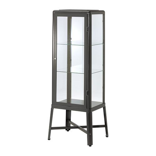 FABRIKÖR Glass-door cabinet IKEA A glass-door cabinet displays and protects your glassware, favorite collectables, etc.