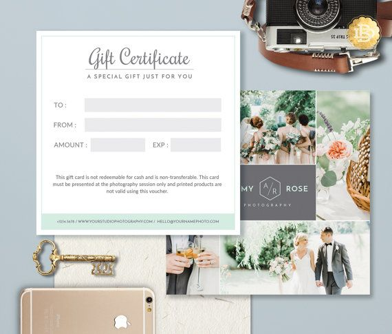 Check out this item in my Etsy shop https://www.etsy.com/listing/457740752/photography-gift-card-template-photoshop