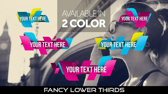 Fancy Lower Thirds  10 Lowerthirds | Full HD 1920×1080 | Quicktime PNG alpha codec | Each 10 seconds.  Available in 2 colours.  #videohive #motiongraphic #aftereffects #lowerthird #broadcast #caption #color #corporate #elegant #fancy #modern #presentation #professional #simple #television #text #title #youtube
