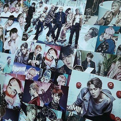 [BTS] Bangtan Boys Bromide Poster 12pcs Sticker Size of A4 Paper x2 Kpop