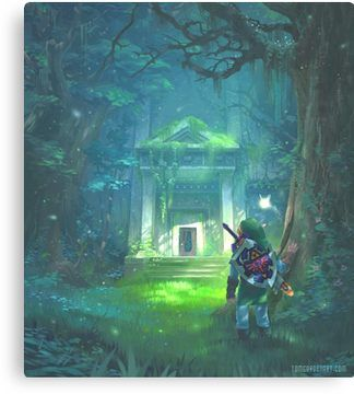 The Forest Temple Canvas Print