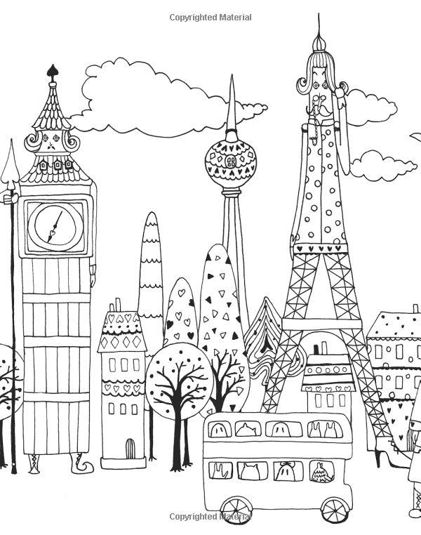 749 Best Adult ColouringBuildingsHouses CityscapesLandmarks Images On Pinterest