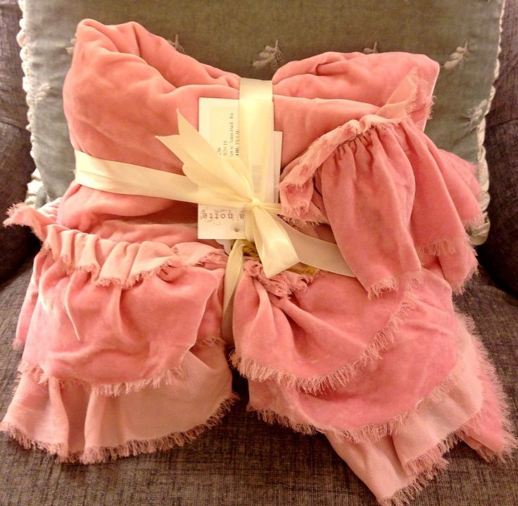 "NWT BELLA NOTTE LOULAH 34"" x 44"" BABY BLANKET SMALL THROW PETAL PINK NEW         #BellaNotte"
