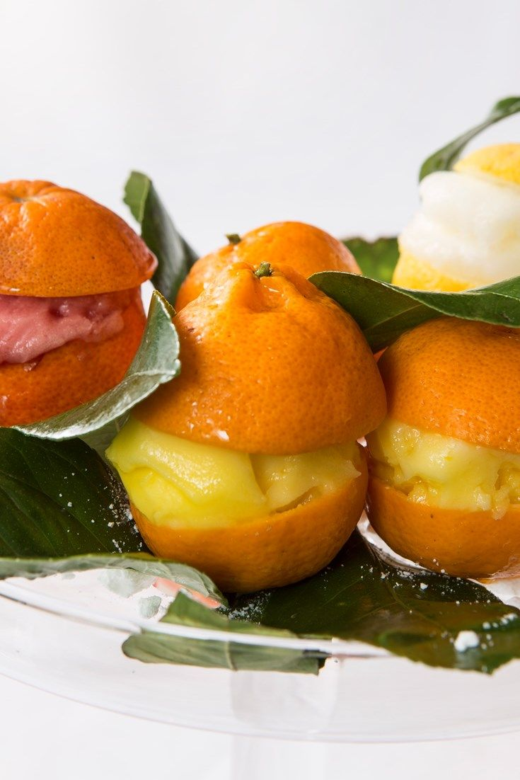 A trio of citrus sorbet recipes from Italian chef Francesco Mazzei including a tangy lemon sorbet recipe along with refreshing orange and blood orange sorbet recipes for a perfect summer dessert.