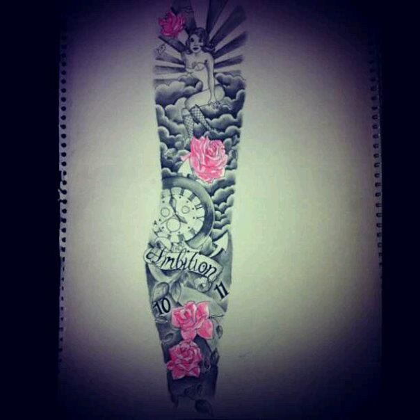 Image result for sleeve tattoos feminine
