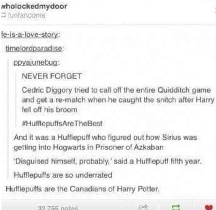 I AM A CANADIAN OF HARRY POTTER