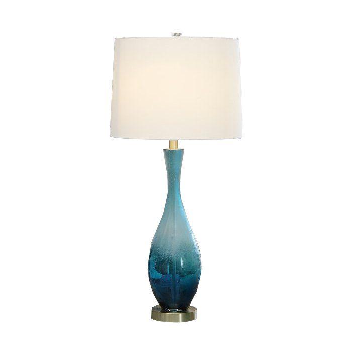 Aaron 31 Table Lamp Modern Table Lamp Living Room Teal Table Lamps Table Lamp #teal #lamps #for #living #room