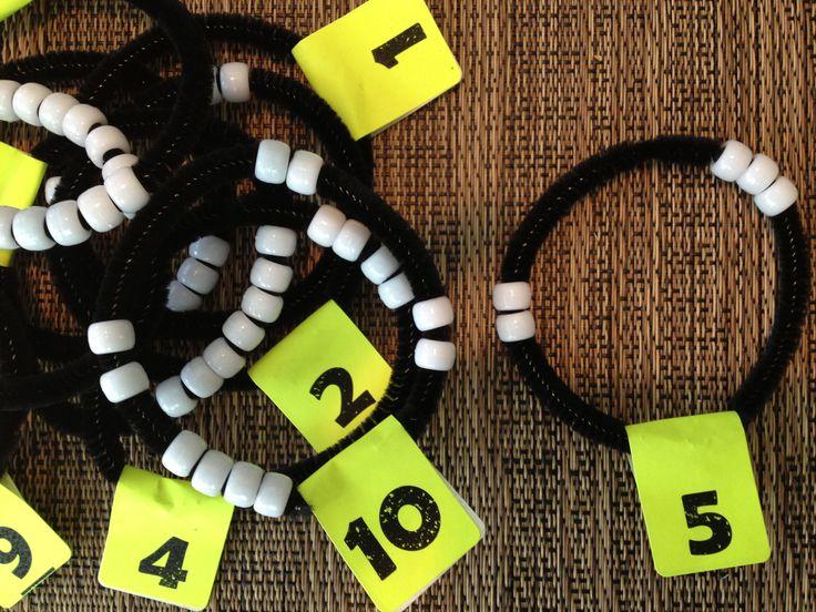 Number sense bracelets