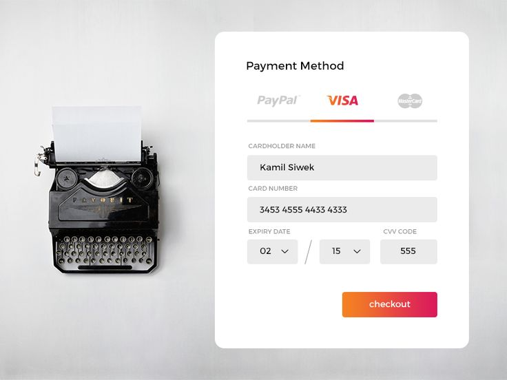 Day 004 - Credit Card Payment by Kamil Siwek