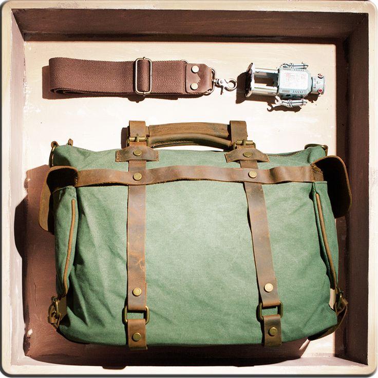 Image of Handmade Superior Leather Business Travel Bag Tote Messenger Bag 13' 15' 17' MacBook 17' Laptop Bags