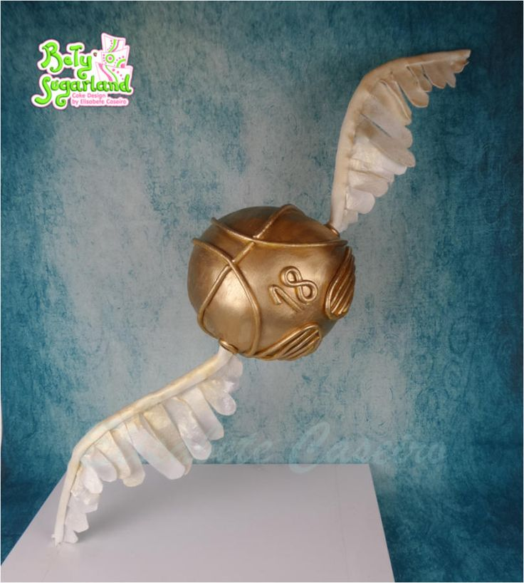 Golden Snitch Cake Cake By Bety Sugarland By Elisabete Caseiro Harry Potter