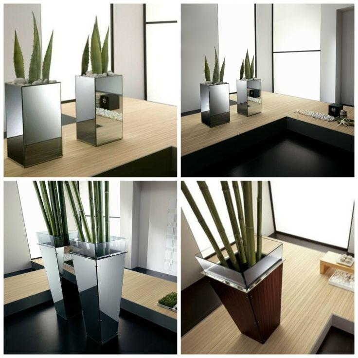 jardineras modernas con espejos